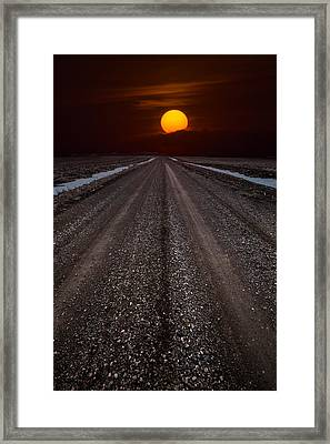 Road To The Sun Framed Print by Aaron J Groen
