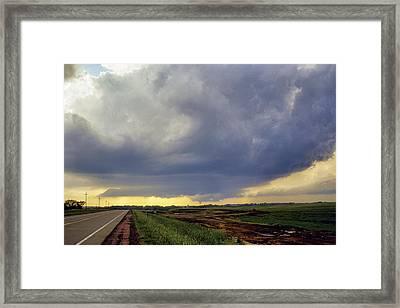 Road To The Tornado - Woonsocket South Dakota Framed Print by Jason Politte