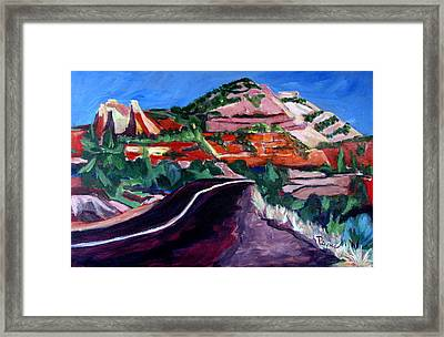 Road To Zion National Park Framed Print by Betty Pieper