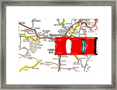 Road Trip - The Mother Road Framed Print by Benjamin Yeager