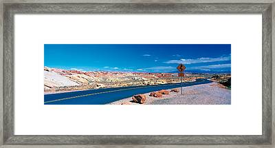 Road Valley Of Fire State Park Overton Framed Print by Panoramic Images