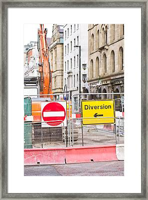 Road Works  Framed Print by Tom Gowanlock