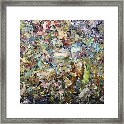 Roadside Fragmentation - Square Framed Print by James W Johnson