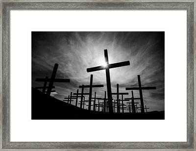 Roadside Memorial Framed Print by Dave Bowman