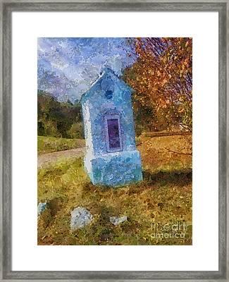 Roadside Shrine Framed Print by Mo T