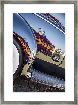 Roadster Reflection- Metal And Speed Framed Print by Holly Martin