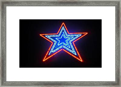 Roanoke Star Framed Print by Jennifer Lamanca Kaufman