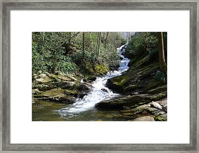 Roaring Fork Falls - Spring 2013 Framed Print by Joel Deutsch