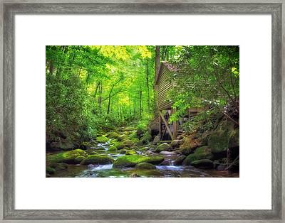 Roaring Fork Mill Framed Print by Carolyn Derstine