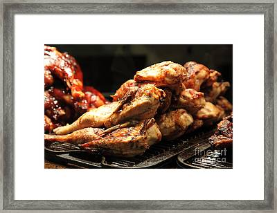 Roast Chicken - 5d20686 Framed Print by Wingsdomain Art and Photography