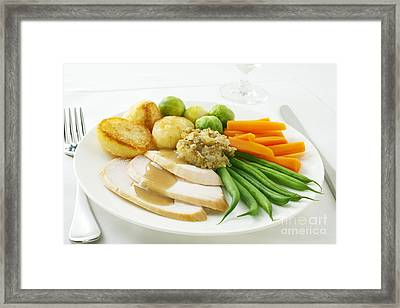 Roast Chicken Dinner Framed Print by Colin and Linda McKie