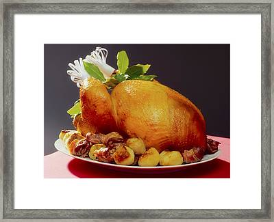 Roast Turkey Framed Print by The Irish Image Collection