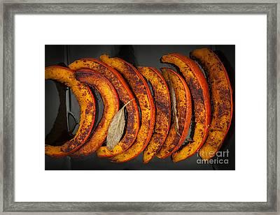 Roasted Pumpkin Slices Framed Print by Elena Elisseeva