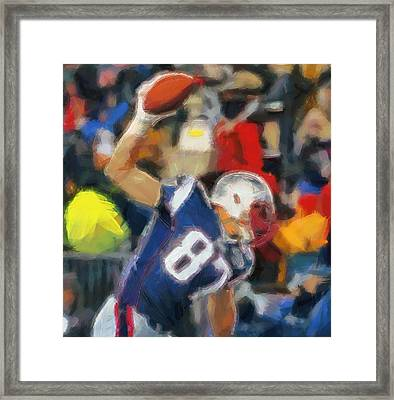 Rob Gronkowski Framed Print by Dan Sproul