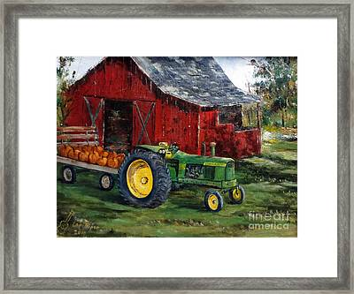Rob Smith's Tractor Framed Print by Lee Piper