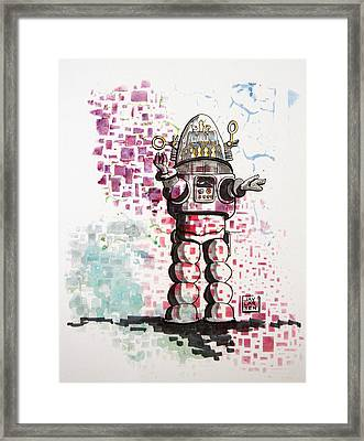 Robbie The Robot Techtonics Framed Print by Jay Larsen