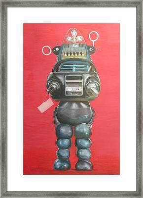 Robby The Robot Framed Print by Karen Stitt