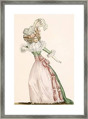 Robe De La Czarine, Plate From Galeries Framed Print by Jean Florent Defraine