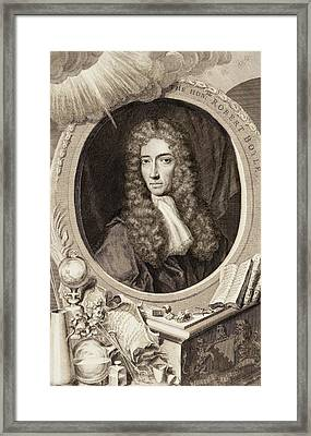 Robert Boyle Framed Print by Gregory Tobias/chemical Heritage Foundation