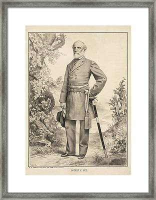 Robert E Lee Framed Print by Digital Reproductions