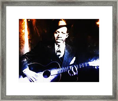 Robert Johnson - King Of The Blues Framed Print by Bill Cannon