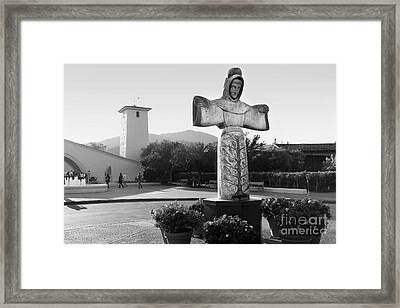 Robert Mondavi Napa Valley Winery . Black And White . 7d9046 Framed Print by Wingsdomain Art and Photography