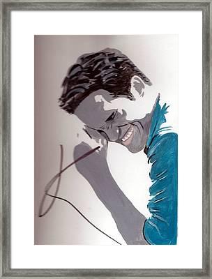 Robert Pattinson 48a Framed Print by Audrey Pollitt