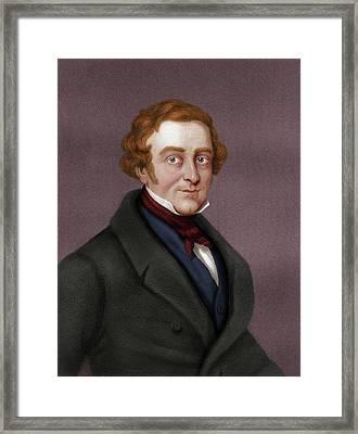 Robert Peel Framed Print by Maria Platt-evans
