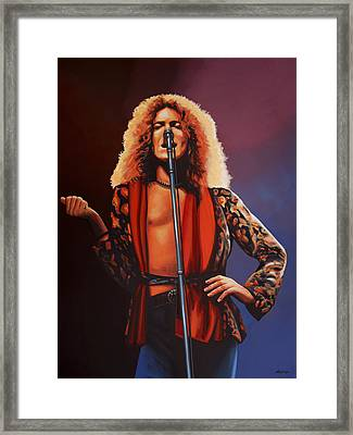 Robert Plant Of Led Zeppelin Framed Print by Paul Meijering