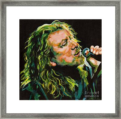 Robert Plant 40 Years Later Like Never Been Gone Framed Print by Tanya Filichkin