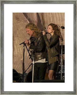 Robert Plant And Patty Griffin Framed Print by Bill Gallagher