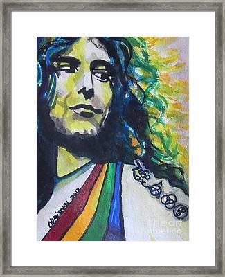 Robert Plant.. Led Zeppelin Framed Print by Chrisann Ellis