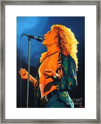 Robert Plant Framed Print by Paul Meijering