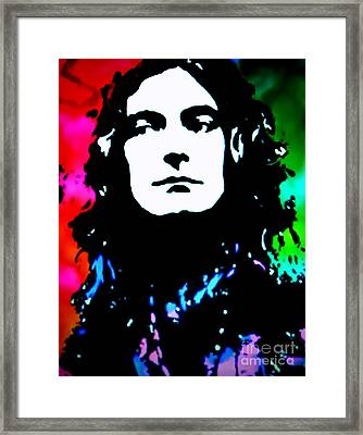 Robert Plant Pop Art Framed Print by Ryszard Sleczka