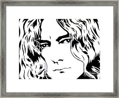 Robert Plant Framed Print by Ryszard Sleczka