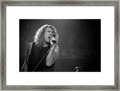 Robert Plant Framed Print by Timothy Bischoff