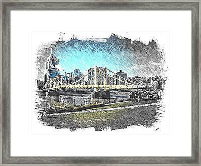 Roberto Clemente Bridge Framed Print by Spencer McKain