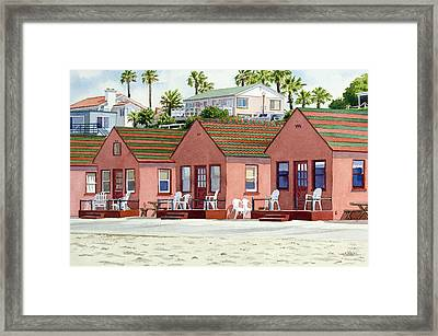 Robert's Cottages Oceanside Framed Print by Mary Helmreich