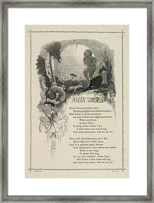 Robin Goodfellow Framed Print by British Library