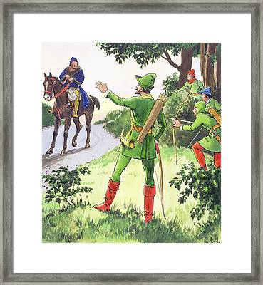 Robin Hood, From Peeps Into The Past Framed Print by Trelleek