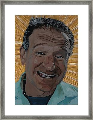 Robin Williams Framed Print by David Moriarty