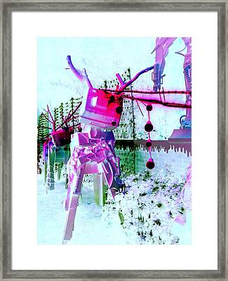 Robo Reindeer Framed Print by Randall Weidner