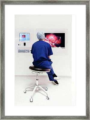 Robot-assisted Thyroidectomy Surgery Framed Print by Mcs