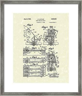 Robot Device 1943 Patent Art Framed Print by Prior Art Design