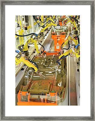Robotic Car Production Line Framed Print by Jim West