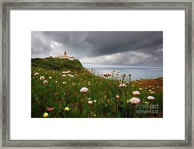 Roca Lighthouse Framed Print by Carlos Caetano