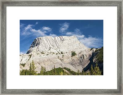 Roche Miette In The Canadian Rockies Framed Print by Ashley Cooper