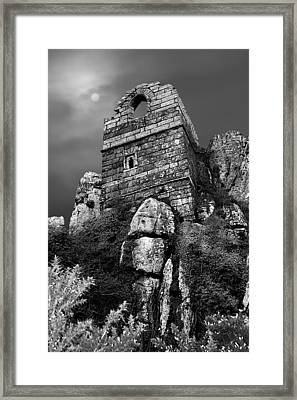 Roche Rock Framed Print by Debra Jayne