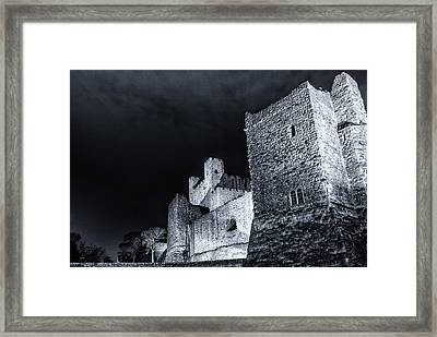 Rochester Castle At Night Framed Print by Ian Hufton