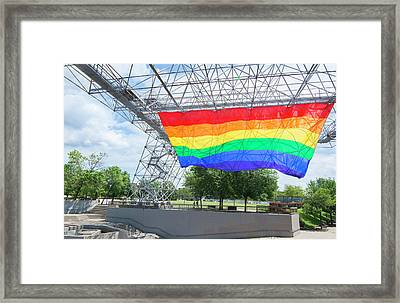 Rochester, New York, Gay Rainbow Flag Framed Print by Bill Bachmann